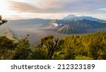 bromo volcano at sunrise... | Shutterstock . vector #212323189