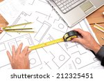 architect with architectural... | Shutterstock . vector #212325451