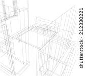interior sketch background | Shutterstock . vector #212330221