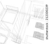 interior sketch background | Shutterstock . vector #212330239