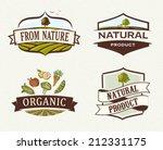 vintage   retro organic badges | Shutterstock .eps vector #212331175