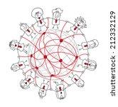social network. group of... | Shutterstock .eps vector #212332129