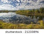 Cloud river reflection