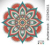 mandala. round ornament pattern.... | Shutterstock .eps vector #212342611
