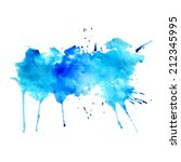 abstract blue watercolor spatter   Shutterstock .eps vector #212345995