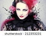 beautiful woman  artwork with... | Shutterstock . vector #212353231