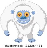 Stock photo smiling cartoon yeti 212364481