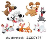 family of dogs | Shutterstock .eps vector #21237679