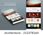 website template vector design | Shutterstock .eps vector #212378164