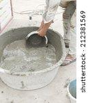 mixing a cement | Shutterstock . vector #212381569