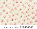 woven close up  roses and leaves | Shutterstock . vector #212384545
