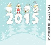 Vector New Year Card With Four...