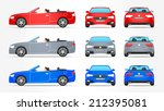 vector car   cabriolet   side   ... | Shutterstock .eps vector #212395081