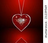 Heart Necklace Vector...