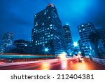 modern city at night | Shutterstock . vector #212404381
