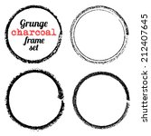 set of four grunge circle... | Shutterstock .eps vector #212407645