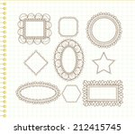 cute doodle frames | Shutterstock .eps vector #212415745