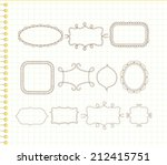 cute doodle frames | Shutterstock .eps vector #212415751