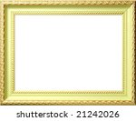 antique frame with gold ornament | Shutterstock . vector #21242026