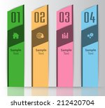 colorful modern text box... | Shutterstock .eps vector #212420704