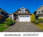 double doors garage with wide... | Shutterstock . vector #212421517