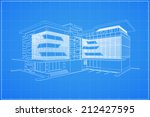 abstract 3d render of building... | Shutterstock .eps vector #212427595