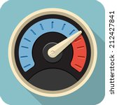 vector speedometer flat icon | Shutterstock .eps vector #212427841