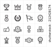 flat line icons trophy and... | Shutterstock .eps vector #212428174