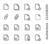 flat line icons file icons... | Shutterstock .eps vector #212428204