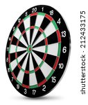 dartboard isolated on white... | Shutterstock . vector #212433175