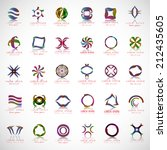 unusual icons set   isolated on ... | Shutterstock .eps vector #212435605