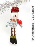 christmas ornament on white... | Shutterstock . vector #21243805