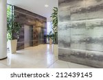 hotel corridor with two...   Shutterstock . vector #212439145