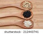 Постер, плакат: white beans black beans