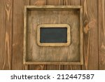 writing board on brown... | Shutterstock . vector #212447587