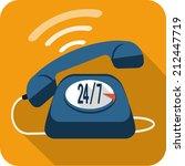 support center call  | Shutterstock . vector #212447719