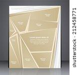 vector layout business brochure ... | Shutterstock .eps vector #212458771