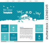 flat website design  nerd theme