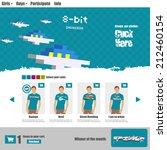flat web design  t shirt shop... | Shutterstock .eps vector #212460154