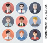 different male faces in circle... | Shutterstock .eps vector #212461255