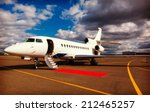 white reactive private jet  the ... | Shutterstock . vector #212465257
