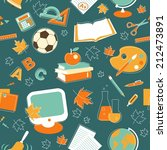 education seamless background... | Shutterstock .eps vector #212473891