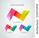 vector logo origami icons.... | Shutterstock .eps vector #212474935
