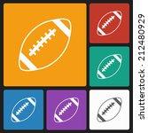 american football icon | Shutterstock .eps vector #212480929