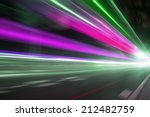speed motion on road at night | Shutterstock . vector #212482759