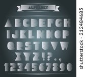 windblown letters. set of abc... | Shutterstock .eps vector #212484685