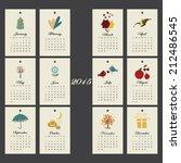 unusual calendar 2015 year... | Shutterstock .eps vector #212486545