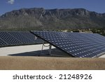 solar panel array against a... | Shutterstock . vector #21248926