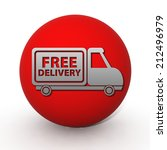 free delivery circular icon on... | Shutterstock . vector #212496979