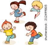 set run school kids. place for...   Shutterstock .eps vector #212499805